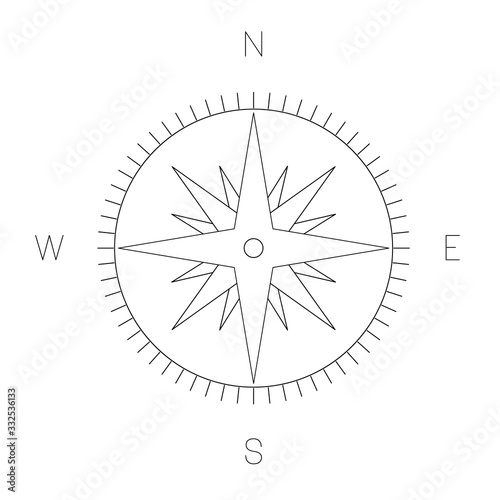 Fotografía Compass rose - nautical chart