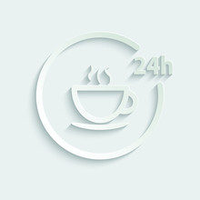 Paper Coffee Icon/ Fast Food I...