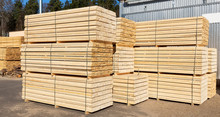 Packed Boards, Lumber Piles In The Finished Goods Warehouse