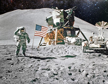 Astronaut On Lunar (moon) Land...