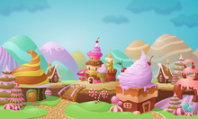 Colorful Candy Town Landscape ...