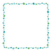 Blue Drawing Dots Border Frame...