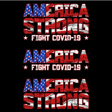 Usa Strong Fight Covid-19 Design Vector