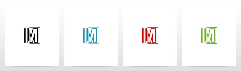 Blueprint Architecture Style Letter Logo Design M