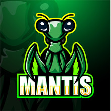 Mantis Mascot Esport Logo Design