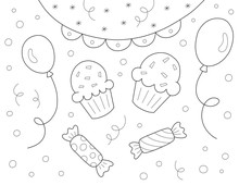 Coloring Page For Kids With Ba...