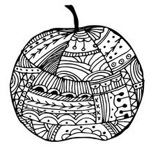 Vector Illustration Apple In F...