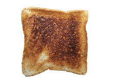 Burnt Toast Bread, Isolated On...