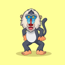A Cute Animal Baboon Mascot