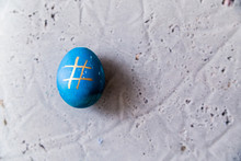 Blue Egg With Hashtag Pattern ...