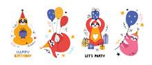 Cute Kawaii Sloth At A Party. ...
