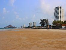 On The Beach Of Hua Hin. Hua Hin Resort Thailand.