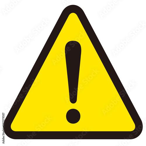 Obraz hazard sign icon vector triangle - fototapety do salonu