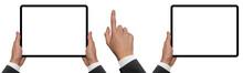 Digital Tablet In Hands. Isola...
