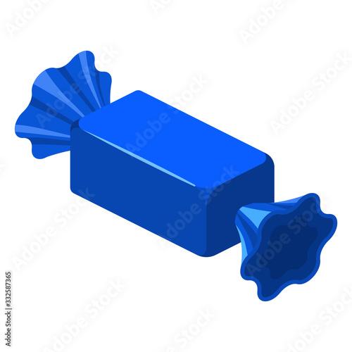 Fototapeta Candy wrapped isometric sweet food obraz