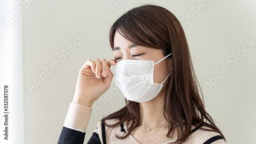 Cuadros en Lienzo 花粉症 女性