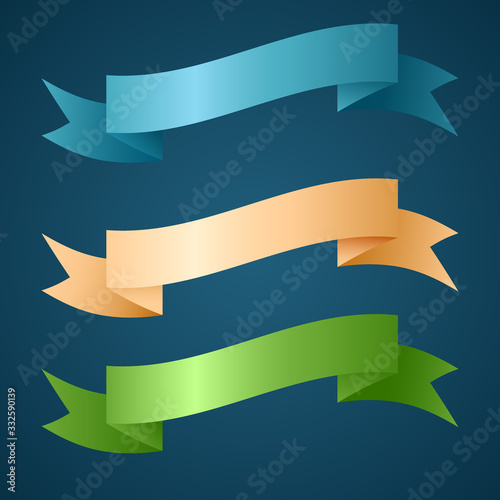 Valokuva Colorful ribbon for title, design of promotional products, use to highlight title or promotional information