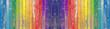 lambris bois arc-en-ciel vintage