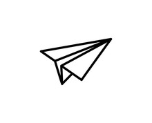 Paper Airplane Line Icon