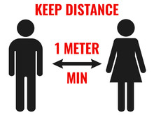 Keep Distance 1 Meter Minimum....