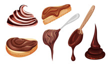 Chocolate Thick Paste On Spoon...