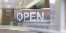 Open Sign Through A Glas Shopp...