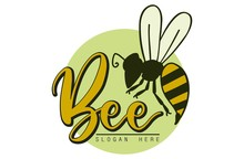 "Bee Logo, Bee And The Letter ""..."
