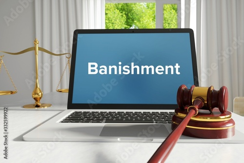 Banishment – Law, Judgment, Web Canvas Print