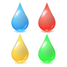Vector Set Of Different Drops ...