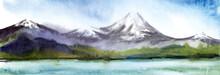 Watercolor Summer Picturesque ...