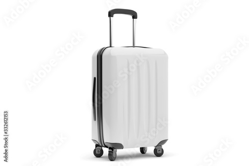 Isolated suitcase on a background Fototapet
