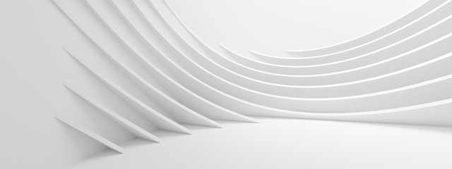 Abstract Wave Background. Minimal White Geometric Wallpaper
