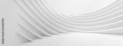 Fotomural Abstract Wave Background. Minimal White Geometric Wallpaper