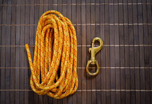 Dog Leash Components; 7 Mm Diameter Accessory Rope And Swivel Snap Hook.