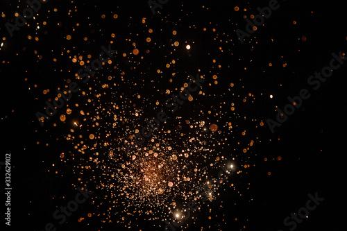 Petardo de fuegos artificiales captado en obturación lenta para conseguir un efe Slika na platnu