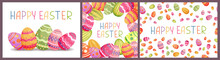 Happy Easter Greeting Card Set...