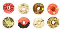Delicious And Colorful Doughnu...