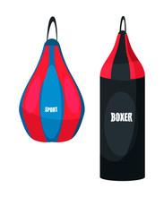 Punching Bag Illustration. Pro...
