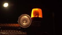 Emergency Light On Fire Truck