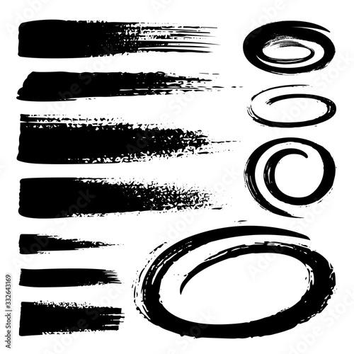 Set of black marker text selection Canvas Print