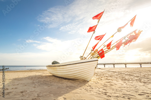Obraz Fischerboot Insel Usedom - fototapety do salonu