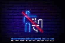 Neon Sign About The Prohibitio...
