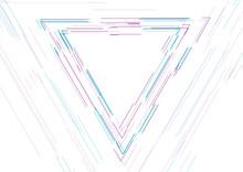 Blue Purple Triangle Linear Sh...