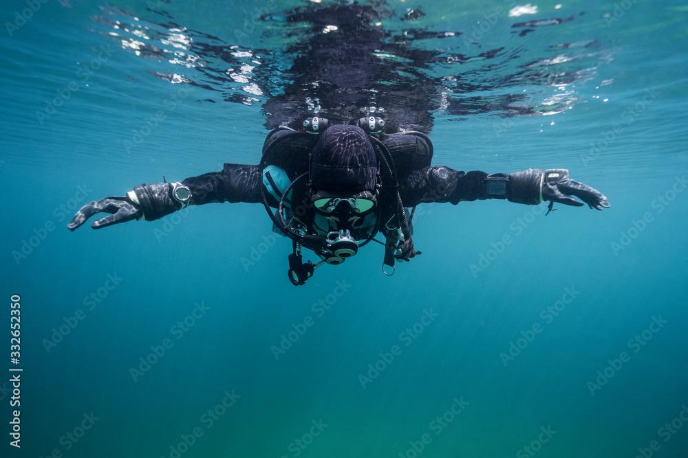 Fototapeta scuba diver in the sea