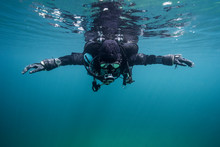 Scuba Diver In The Sea
