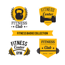 Set Fitness Emblems, Labels, B...