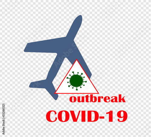 Coronavirus outbreak - the prohibition of air travel and the closure of airspace Canvas Print