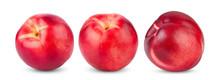 Nectarine Fruit Isolated On Wh...