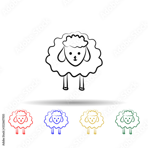 Fotomural Sheep multi color icon
