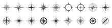 Compass Icons Set. Vector Comp...